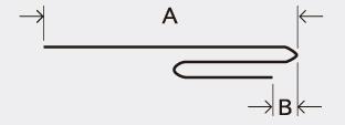 折り位置移動量A、Bを計測します