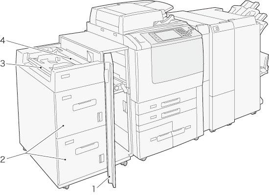 用紙トレイ6、7(大容量給紙トレイA4 2段)