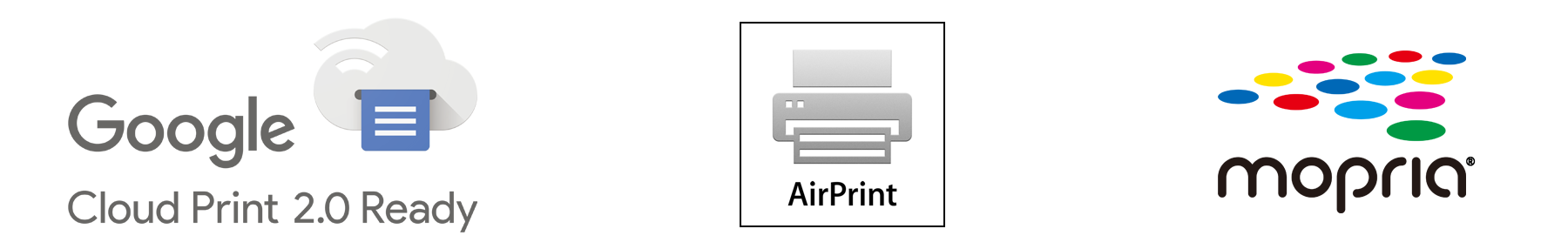 Google Cloud Print™、AirPrint、Mopria®プリント