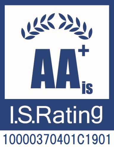 I.S.Rating AA+isロゴ